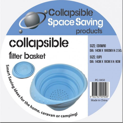 Collapsible Silicone Filter Basket