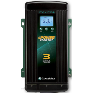 Epower 20Amp 12V Smart Battery Charger — Three Output