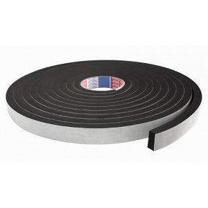 Self Adhesive Foam Sealing Tape Black 15M Length / 12mm Width / 6mm Thick