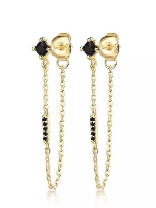 Aggi Drop Chain Earrings