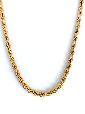 Romeo Gold Tag Necklace