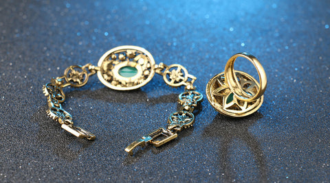 Turkey Turquoise Bracelets And Rings Gold-Plated – ZHAKS