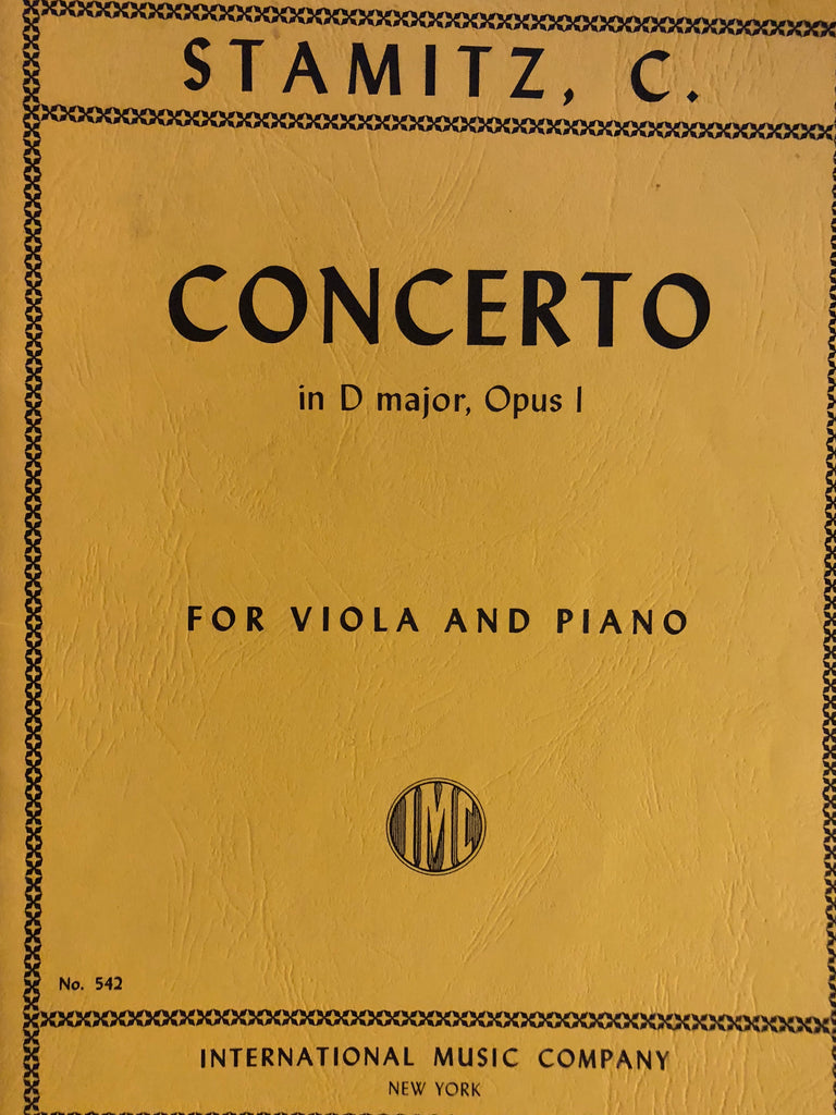 Stamitz, Concerto in D Major for Viola and Piano