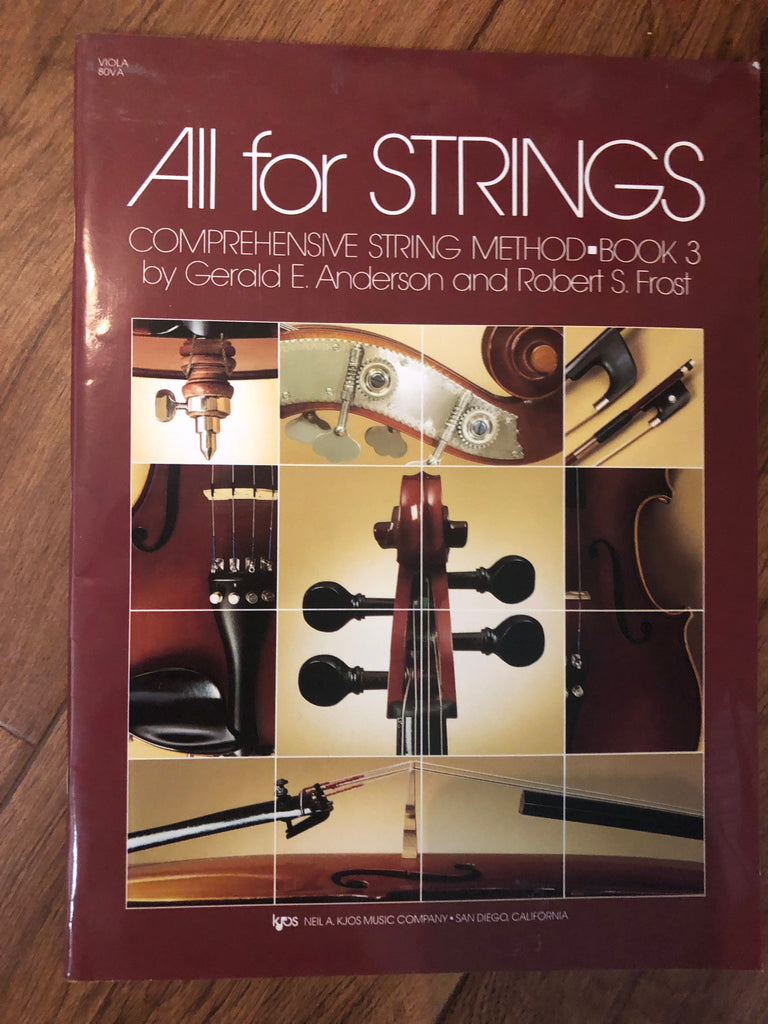 All for Strings - Viola Book 3