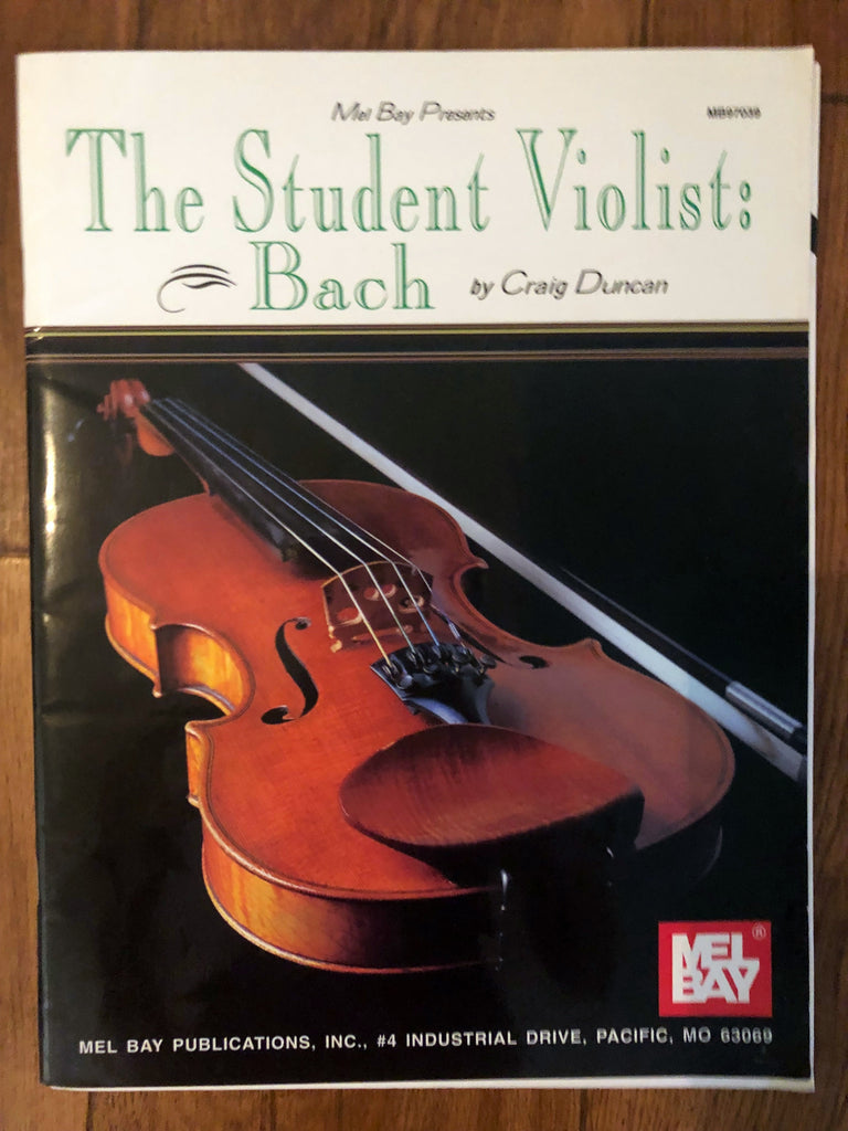 The Student Violist: Bach - for Viola and Piano