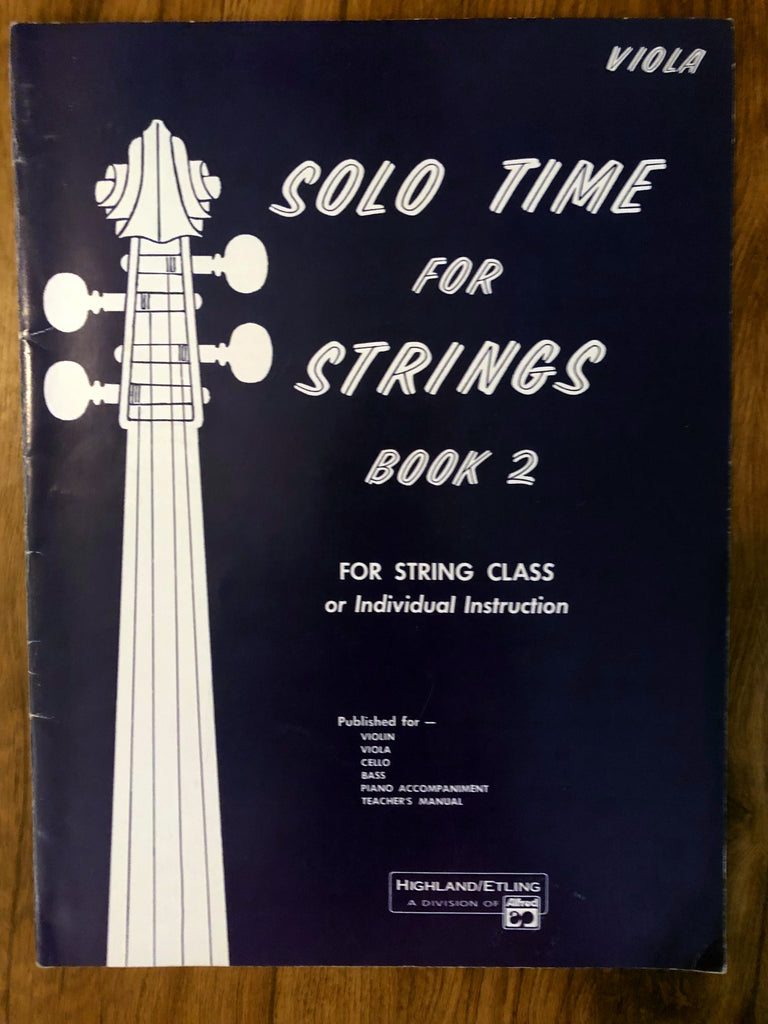 Solo Time for Strings - Viola Book 2