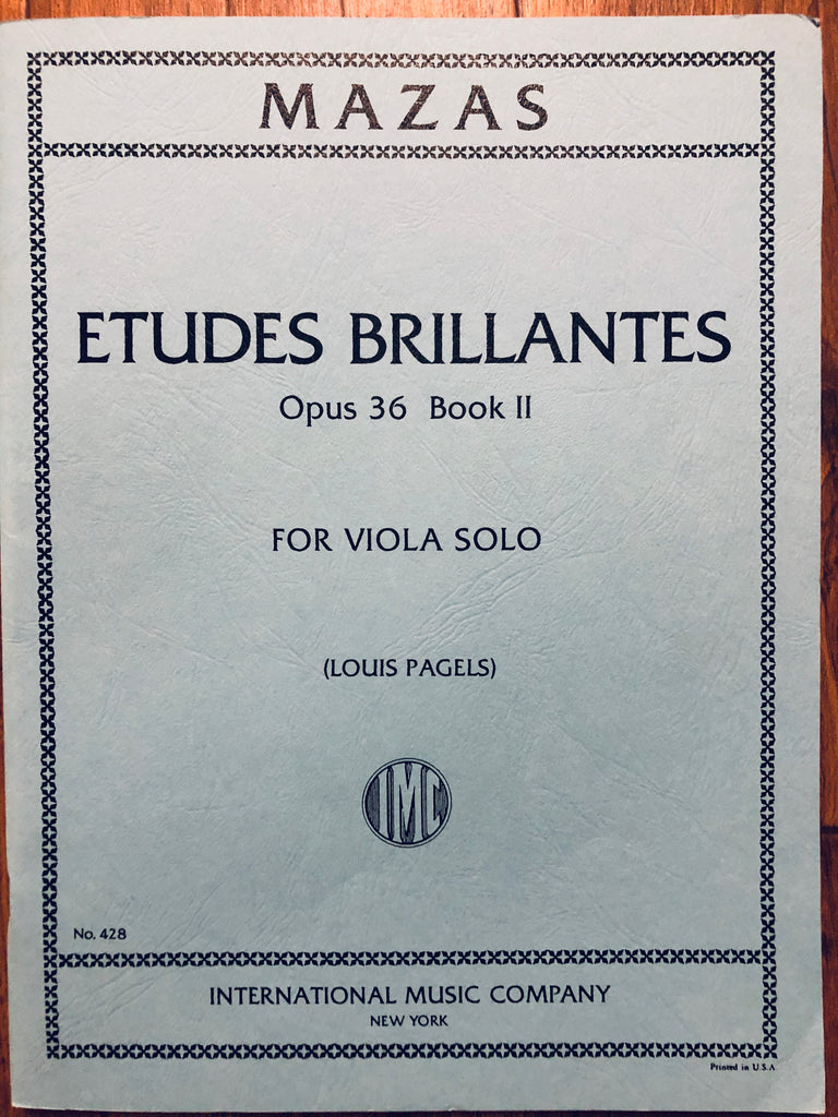 Mazas, Etudes Brilliantes, Op. 36 Book II, for Viola