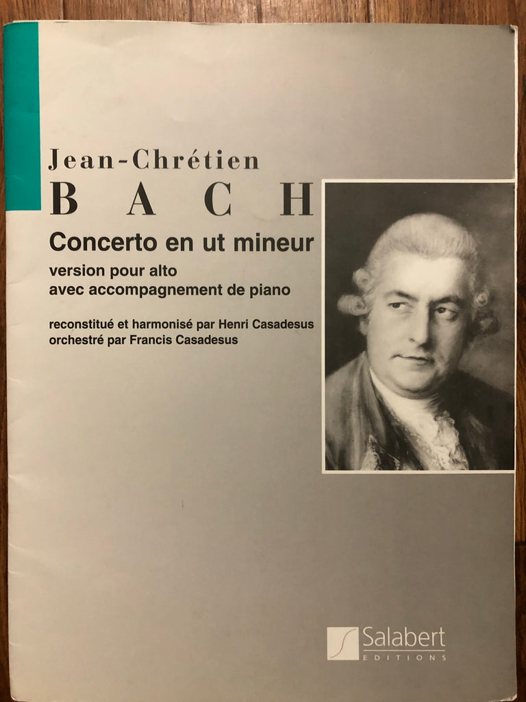 Cassadesus, Concerto for Viola and Orchestra in C Minor, in the style of J. C. Bach