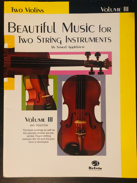 Applebaum, Beautiful Music for Two String Instruments - Two Violins, Volume 3