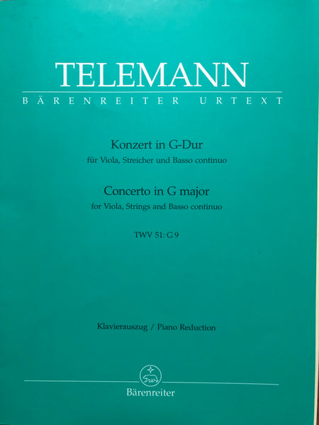 Telemann, Concerto in G Major for Viola and Orchestra