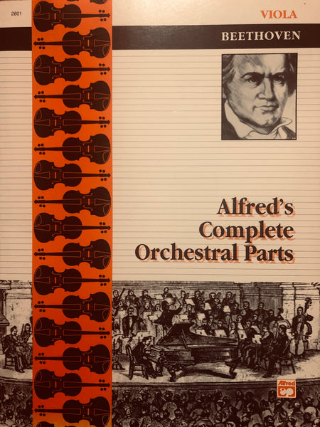Beethoven, Alfred's Complete Orchestral Parts - Viola