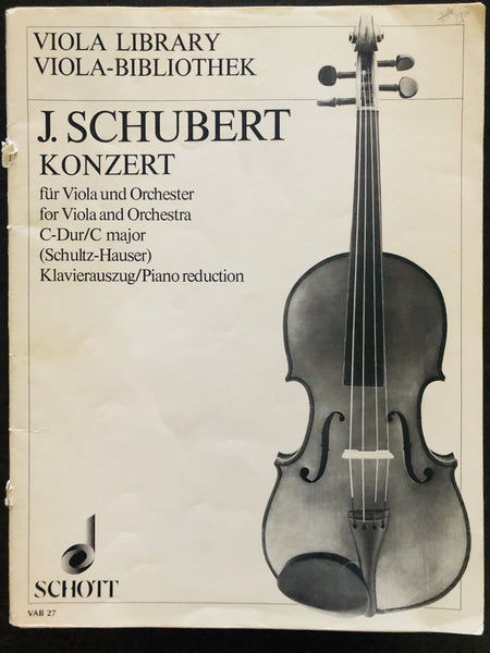 Schubert, Concerto in C Major for Viola and Orchestra