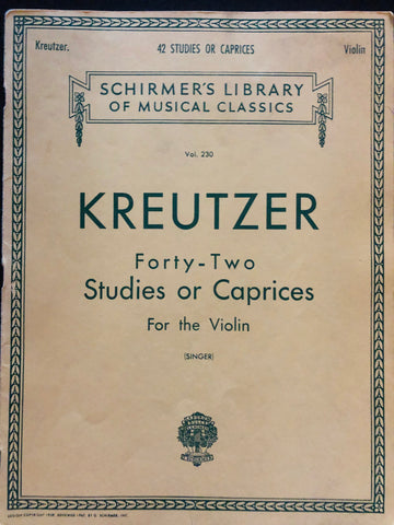 Kreutzer, 42 Studies for Violin