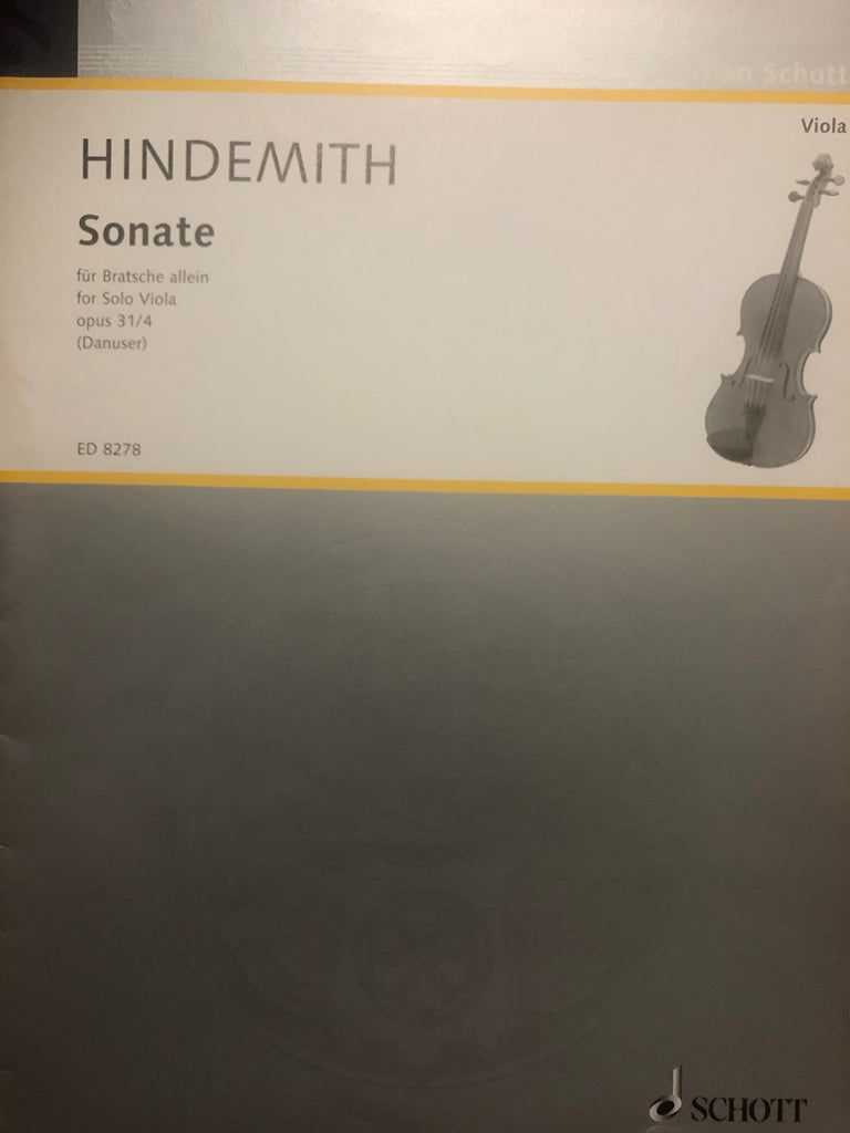 Hindemith, Sonata Op. 31 No. 4 for Solo Viola