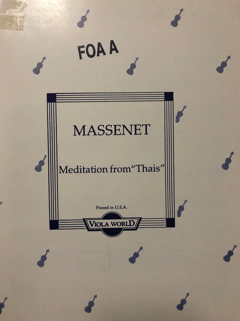 "Massenet, Meditation from ""Thais"" for Viola and Piano"