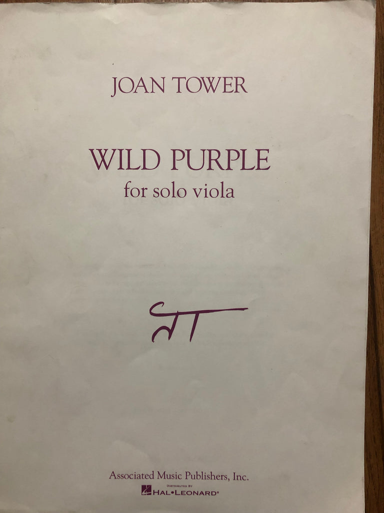 Tower, Wild Purple for Solo Viola