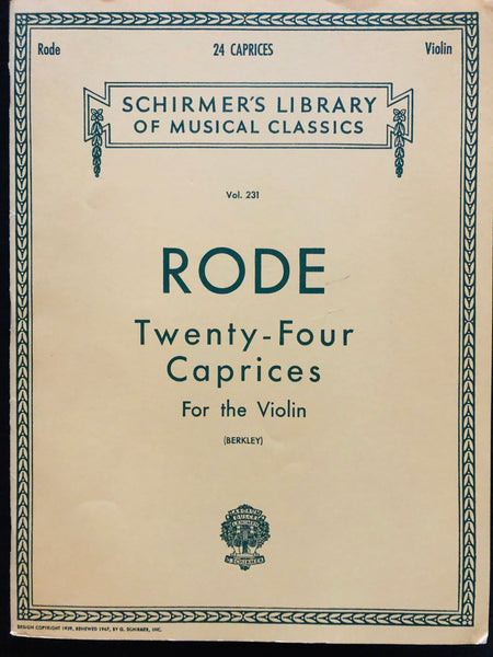 Rode, 24 Caprices for Violin