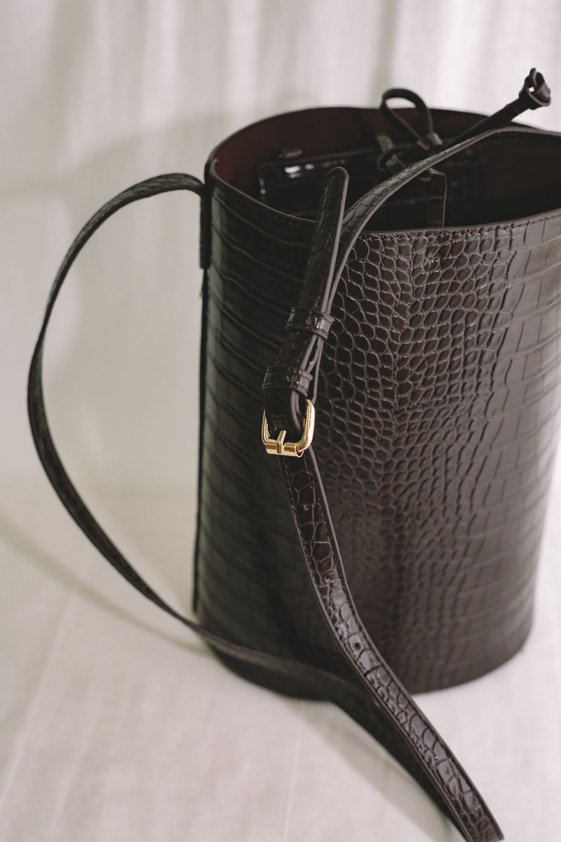 Diane Bucket Bag - Dark Brown