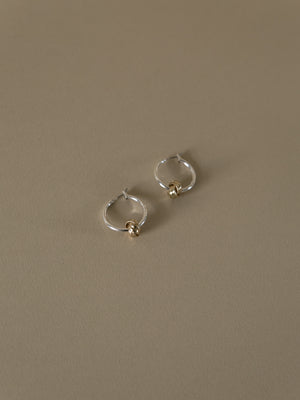 Uma Silver Hoop Earrings