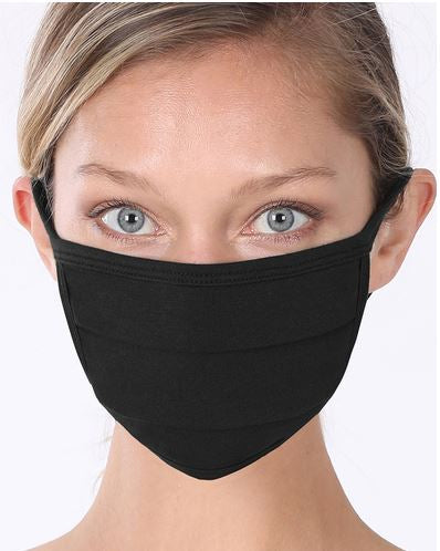 6 or 12 Pack Washable and reusable breathable cotton cloth face mask for women and men
