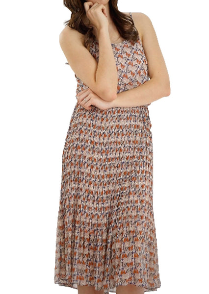 Butterfly Printed Midi Dress