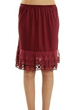 Women's Knit Double Laced Half Slip/Skirt Extender - Shop Lev