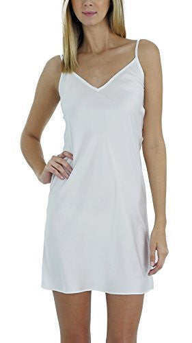 Women V Neck Camisole Full Slip Dress Nightgown - Shop Lev