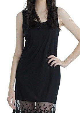 Women's sleeveless full slip for dresses with lace trim - Shop Lev