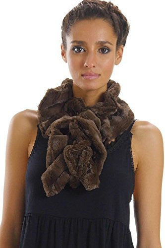 Women's Solid Faux Fur Twisted Spiral Scarf - Shop Lev