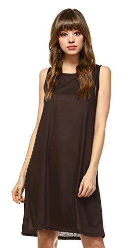 Basic Knit Tank Midi Length Full Slip Dress - Shop Lev