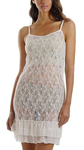Melody See-through Baby-doll lace slip with ruffles - Shop Lev