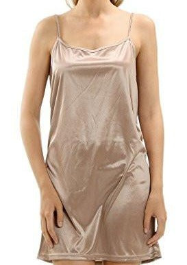 Women's Basic Satin Camisole Full Slip - Shop Lev