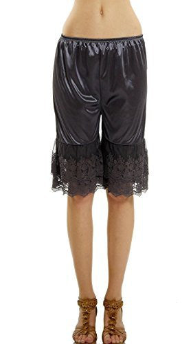 Women's Double Lace Snip-in Satin Pettipants, Pant Slip, Bloomer - Shop Lev