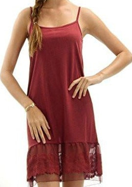 Women's Knit Full Slip with Circle Lace for Lengthening - Shop Lev