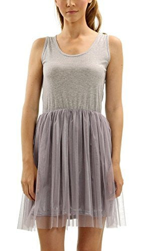 Melody Ribbed Knit Tank Slip Dress with Tutu - Shop Lev