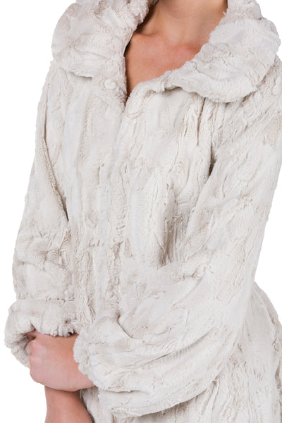 Women's Faux Fur Jacket with Faux Leather Belt - Shop Lev