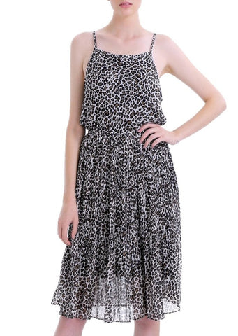 Leopard Animal Print Midi Dress - Shop Lev