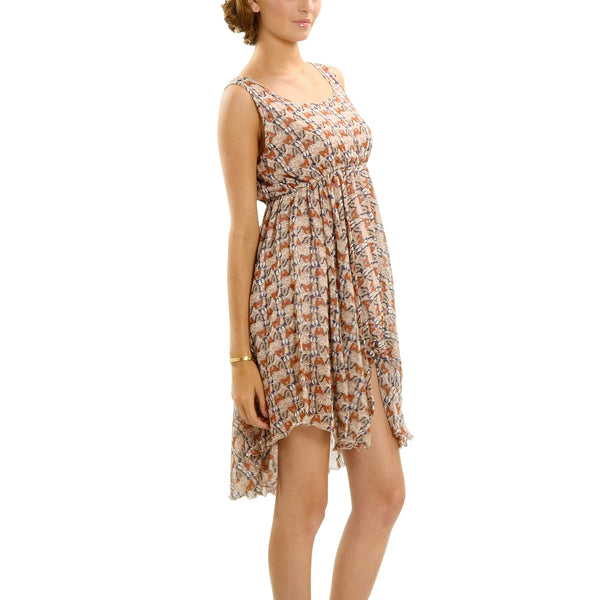 Butterfly Printed Sleeveless Dress - Shop Lev
