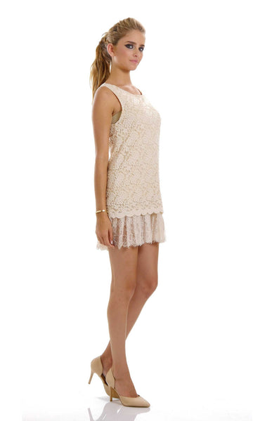 Embossed Rose Lace Sleeveless Tunic - Shop Lev