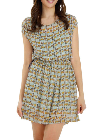Butterfly Printed Mini Dress - Shop Lev