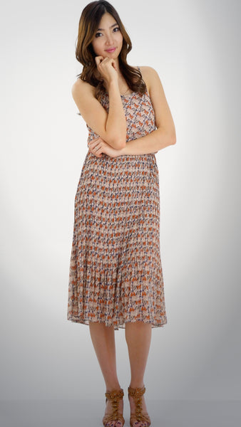 Butterfly Printed Midi Dress - Shop Lev