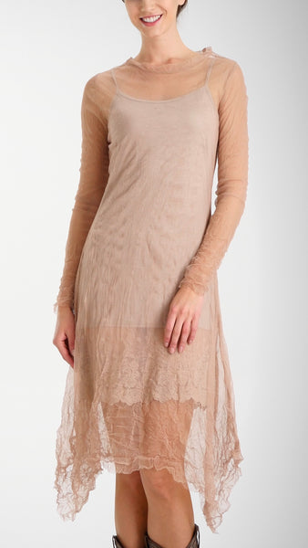Mesh Long Sleeve Dress/Slip - Shop Lev