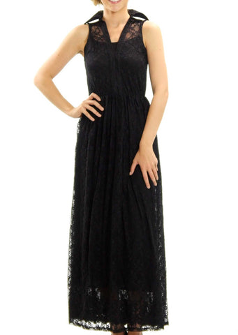 Lace Pullover Maxi Dress - Shop Lev