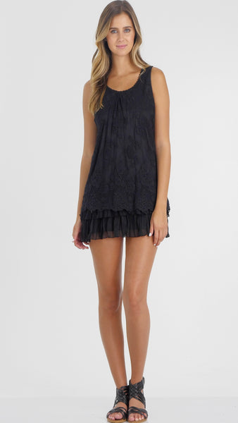 Chiffon Layered Tunic Dress - Shop Lev
