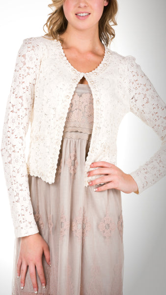 Cropped Lace Jacket - Shop Lev