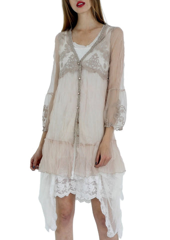 Lace Cardigan with Bubble Sleeve - Shop Lev