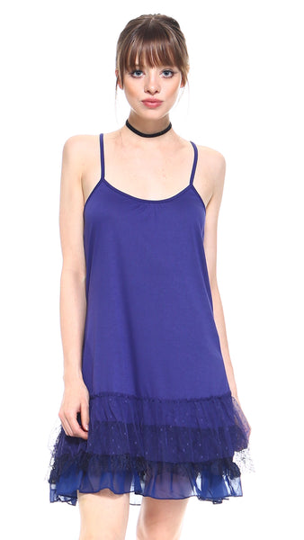 Women's Knit Flare Full Slip with 3 combo ruffle layers - Shop Lev