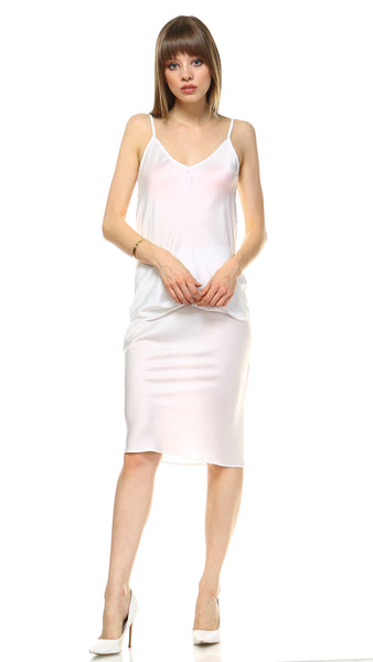 Women V Neck Bias Cut Camisole - Shop Lev