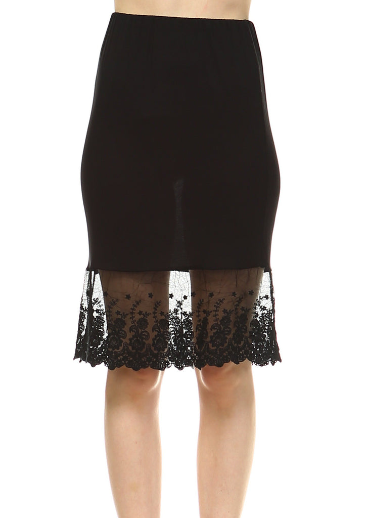 0553b7dcfe7b Women's Knit Lace Skirt extender Half Slip for lengthening and layering -  Shop Lev