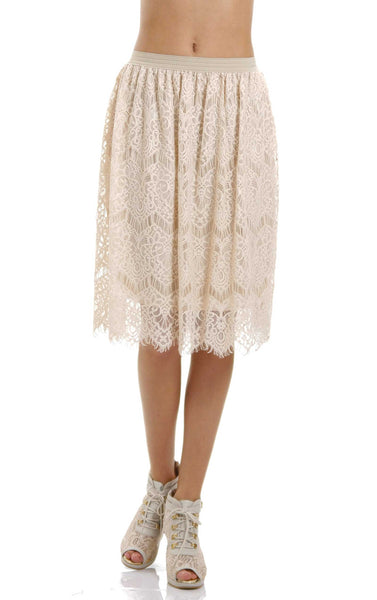 Women's Vintage Lace Skirt - Shop Lev